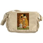 The Kiss / Maltese Messenger Bag