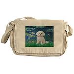 Lilies / Maltese Messenger Bag