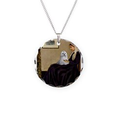 Whistler's Mother Maltese Necklace