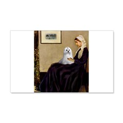 Whistler's Mother Maltese Wall Decal