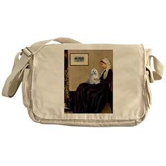 Whistler's Mother Maltese Messenger Bag
