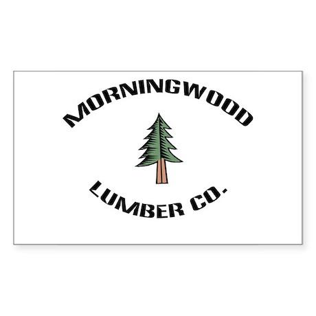 Morningwood Lumber Co. Rectangle Sticker