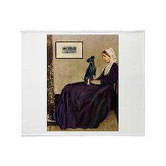 Whistler's / Min Pin Throw Blanket