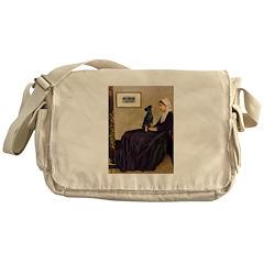 Whistler's / Min Pin Messenger Bag