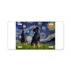 Starry / Min Pinscher Aluminum License Plate