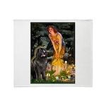 Fairies & Newfoundland Throw Blanket