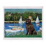Sailboats & Newfoundland Throw Blanket