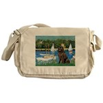 Sailboats & Newfoundland Messenger Bag