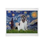 Starry Night / Landseer Throw Blanket
