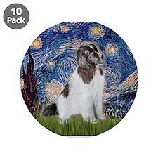 "Starry Night / Landseer 3.5"" Button (10 pack)"