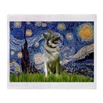 Starry / Nor Elkhound Throw Blanket