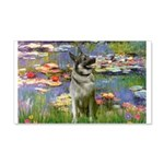Lilies / Nor Elkhound 20x12 Wall Decal
