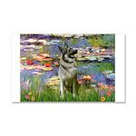 Lilies / Nor Elkhound Car Magnet 20 x 12