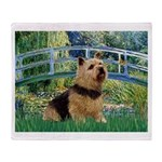 Bridge / Norwich Terrier Throw Blanket