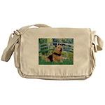 Bridge / Norwich Terrier Messenger Bag