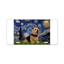 Starry /Norwich Terrier Aluminum License Plate