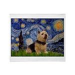 Starry /Norwich Terrier Throw Blanket