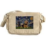 Starry /Norwich Terrier Messenger Bag