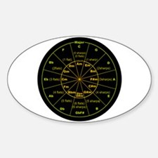 Cute Circle of fifths Sticker (Oval 10 pk)