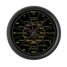 Unique Circle fifths Large Wall Clock