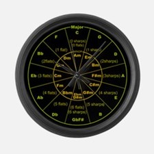 Unique Circle of fifths Large Wall Clock