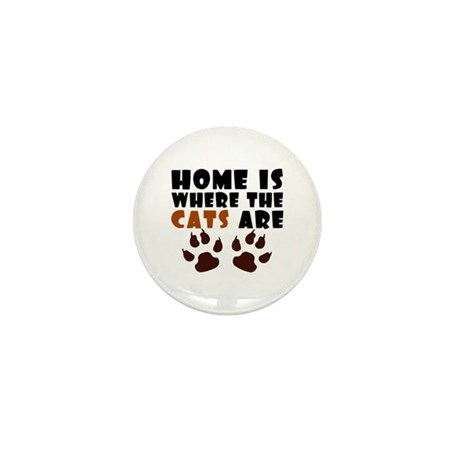 'Where The Cats Are' Mini Button (10 pack)