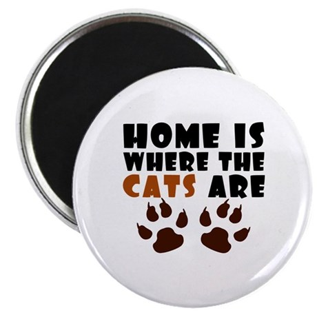"""'Where The Cats Are' 2.25"""" Magnet (10 pack)"""