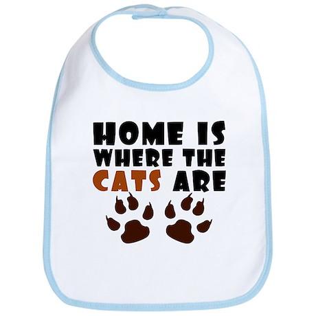 'Where The Cats Are' Bib