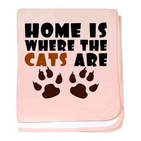 'Where The Cats Are' baby blanket