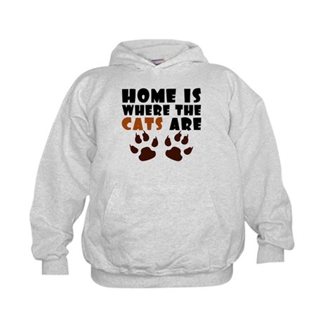 'Where The Cats Are' Kids Hoodie