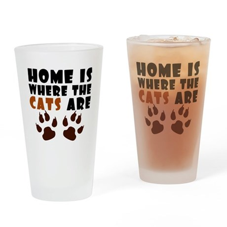 'Where The Cats Are' Drinking Glass