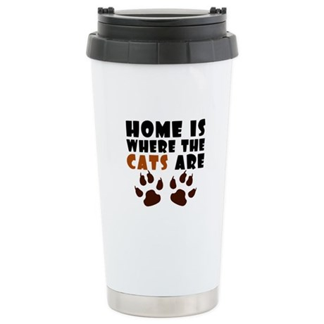 'Where The Cats Are' Stainless Steel Travel Mug
