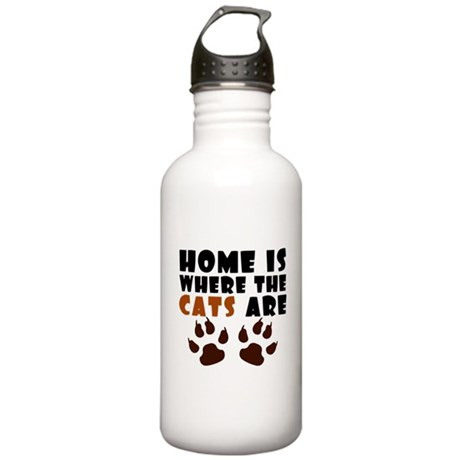 'Where The Cats Are' Stainless Water Bottle 1.0L