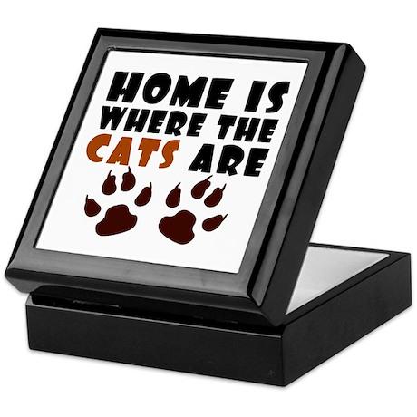 'Where The Cats Are' Keepsake Box