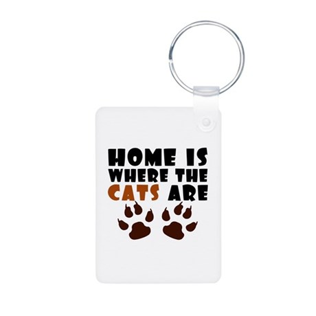 'Where The Cats Are' Aluminum Photo Keychain