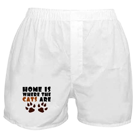 'Where The Cats Are' Boxer Shorts