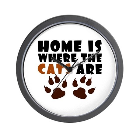 'Where The Cats Are' Wall Clock