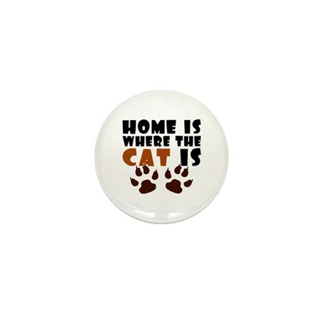'Where The Cat Is' Mini Button (10 pack)