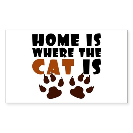 'Where The Cat Is' Sticker (Rectangle)