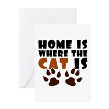 'Where The Cat Is' Greeting Card