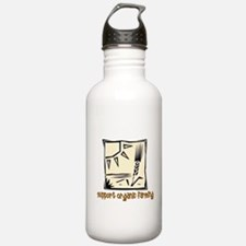 Support Organic Farming Water Bottle