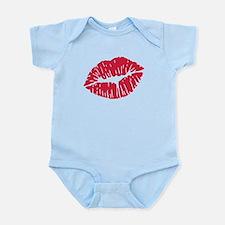 Kiss red lips Infant Bodysuit