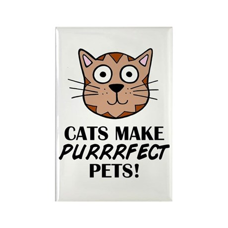 'Purrrfect Pets' Rectangle Magnet