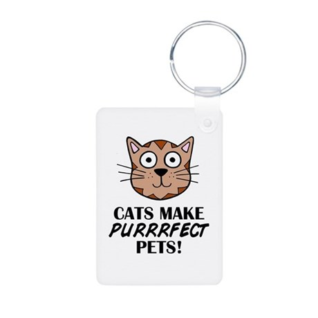 'Purrrfect Pets' Aluminum Photo Keychain