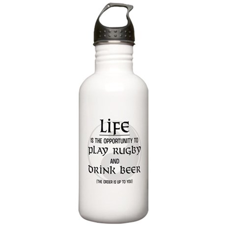 Rugby and Beer Stainless Water Bottle 1.0L