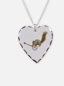 Squirrel with Banjo Necklace