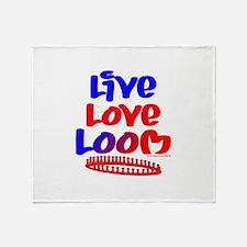 Live Love Loom Throw Blanket