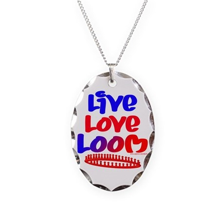 Live Love Loom Necklace Oval Charm