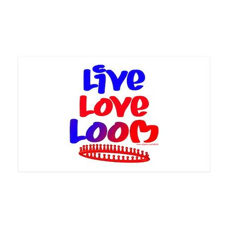 Live Love Loom 38.5 x 24.5 Wall Peel