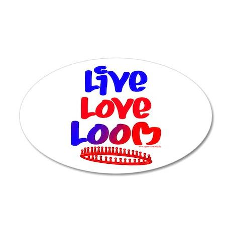 Live Love Loom 38.5 x 24.5 Oval Wall Peel